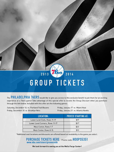 Phila  76ers Ticket Promo Code - The Main Line Chamber of